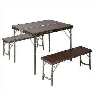 テーブルベンチセット 特別モデル LTM-4(BR)|山善 キャンパーズコレクション