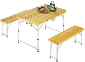 テーブル シダー杉製 ベンチ インテーブルセットナチュラル M-3770|キャプテンスタッグ(CAPTAIN STAG)