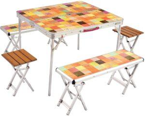 テーブル ナチュラルモザイクファミリーリビングセットプラス 約13.2kg 2000026757|コールマン(Coleman)