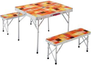 テーブル ナチュラルモザイクファミリーリビングセット ミニプラス 2000026758|コールマン(Coleman)