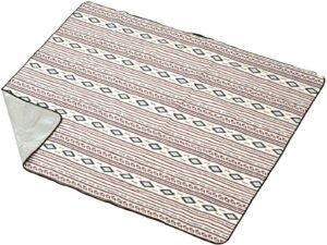 ピクニック シート 200cm ネイティブ柄 <ホワイト/ネイビー> BD-534 【4~5人用】 レジャー|バンドック(BUNDOK)