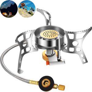 ミニスチールピエゾ シングルバーナー 圧電点火 折りたたみ式 CB缶/OD缶対応 シングルバーナー