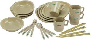 食器 箸付きディナーセット4人用 収納袋付き ロゴス(LOGOS)