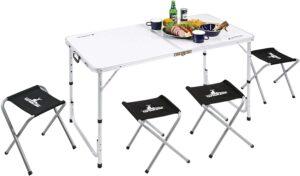 BBQ用 机 椅子 ラフォーレ テーブル チェア セット 4人用UC-4|キャプテンスタッグ(CAPTAIN STAG)