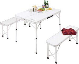BBQ用 机 椅子 ラフォーレ ベンチ インテーブルセットUC-5|キャプテンスタッグ(CAPTAIN STAG)