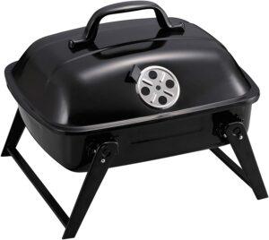 キャプテンスタッグ(CAPTAIN STAG) BBQコンロ グリル オーブン 焚き火台 BBQ スモークオーブングリル ミニ ふた付き ブラック UG-61
