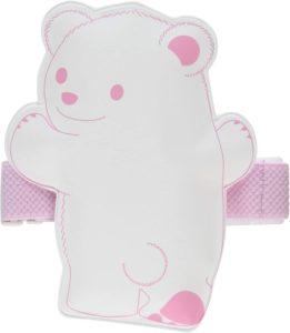クロスハーツ 保冷材 ひえクマ ランチバンド付 白×ピンク