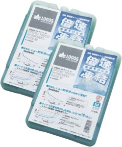 ロゴス(LOGOS) 保冷剤 倍速凍結・氷点下パックM・2個パック 長時間保冷 奥行19.6cm 幅13.8cm 高さ2.6cm|ロゴス(LOGOS)