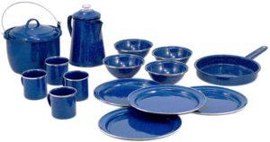 GSI 食器 パイオニア キャンプセット 16ピース ブルー 11870005000000|GSI