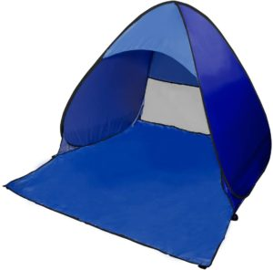 MRG テント ワンタッチ 1~2人用 ワンタッチテント UPF50+ uvカットコーティング 防水加工 サンシェード キャリーバッグ付き(ネイビー)|MRG(エムアールジー)