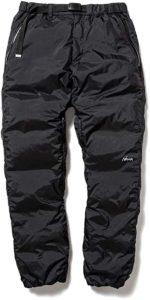 Amazon NANGA (ナンガ) オーロラダウンパンツ AURORA DOWN PANTS ブラック Lサイズ アウトドア ロングパンツ 通販