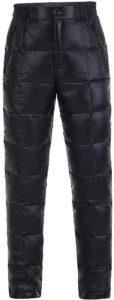 Amazon WEATTECダウンパンツ メンズ超軽量 大きいサイズ ロング防寒 パンツ 登山 アウトドア 暖パンツ DOWN PANTS スキーパンツ(ブラック前立て、M) アウトドア ロングパンツ 通販