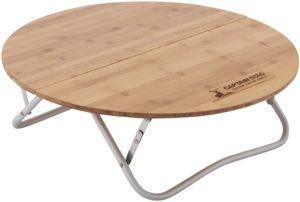 キャプテンスタッグ アルバーロ竹製ラウンドローテーブル