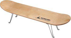 キャプテンスタッグ テーブルラック スケボーテーブル ナチュラル