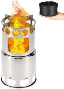 キャンプストーブ Linkax アウトドア用 ウッドストーブ 二次燃焼 燃料不要 キャンプ 焚火台 コンパクトステンレスストーブ 収納パック付|Linkax|シングルバーナー
