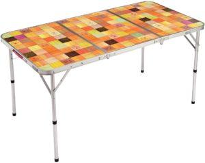 コールマン テーブル ナチュラルモザイクリビングテーブル 140プラス