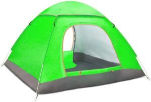Amposei ワンタッチテント 3,4人用 ドームテント ツーリングテント