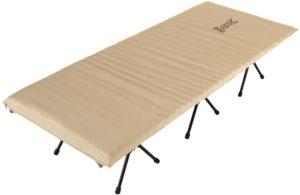 DOD(ディーオーディー) ハンペンインザスカイ ふわふわな寝心地の エアマット内蔵 ハイコット CB1-633-TN DOD(ディーオーディー) 折りたたみ式ベッド