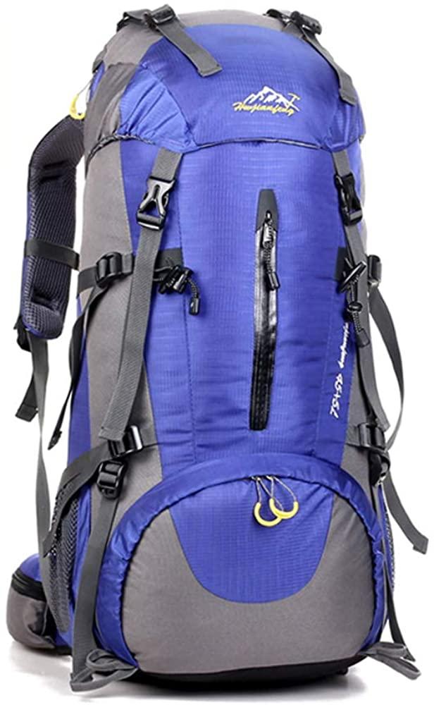 Kosun 登山リュック 登山バック 45 + 5L大容量 防水 多機能 アウトドア スポーツ トラベル ハイキング トレッキング キャンプ 旅行用 レインカバー付き 6カラー(ブルー)|登山リュック・ザック