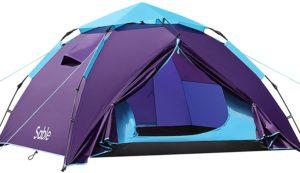 Sable テント ワンタッチキャンプテント 3、4人用