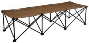 UNIFLAME:ユニフレーム リラックスコット ブラウン×ブラック UNIFLAME(ユニフレーム) 折りたたみ式ベッド