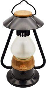 最大200ルーメン 最大95時間点灯 軽量 840g USB充電式 LEDライト ランタン 暖色と白い光調整可能 光量調整OK アンプラグドキャンプ ブラック LEDランタン WildLand(単品) UNPLUGGED CP(アンプラグドキャンプ) スポーツ&アウトドア