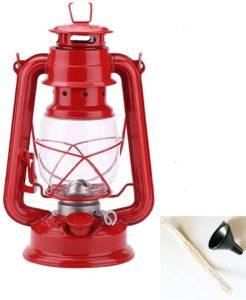 YOGOGO ケロシン(灯油) ランタン ポータブルガラスランタンの装飾屋外キャンプライト キャンプ 防災用 ライト 照明 ランタン 中(赤)