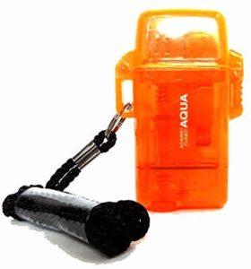 ツインライト AQUA TURBO LIGHTER ターボライター AGAINST TURBO 風・水に強い(オレンジ)|AQUA(エーキューエー)|バーベキュー・クッキング用品