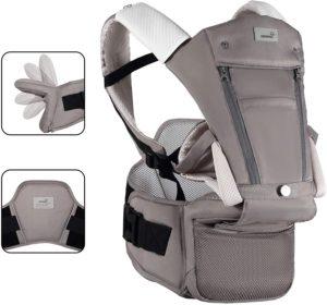抱っこ紐 抱っこひも ヒップシート 多機能 おんぶ可 ベビーキャリア 新生児 軽量 通気 安全ベルト付き 肩紐付き 対面抱っこ メッシュ付き通気抜群 収納 調整可能 四季通用
