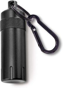 携帯灰皿 キーリング & カラビナ付き 大容量 軽量 おしゃれ 防水 持ち運び便利 臭い漏れなし