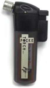 新富士バーナー ポケトーチ バーナー 日本製 強力耐風 アウトドア ライター燃料 火力調節 小型 火口径:14mm スケルトン 黒 PT14FFBCR|DIY・工具・ガーデン