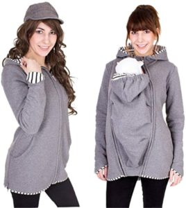 赤ちゃんキャリアのための多機能カンガルー、妊娠中の秋冬暖かいアウターフード付きスウェットシャツ