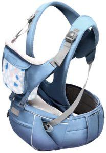 ACEDA 3ポジション 360° エルゴノミックベビー&チャイルドキャリア - オールシーズンバックパック代替品 ハイキング用 人間工学設計 ヒップ保護 幼児または幼児用 ブルー