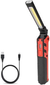 Coquimbo LED作業灯 COBライト ワークライト ハンディライト 懐中電灯 led USB充電式 マグネット機能搭載 夜間作業 折り畳み式 小型