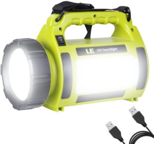 LED ランタン 懐中電灯 サーチライト CREE社製高輝度チップ搭載 超高輝度1000ルーメン USB充電式 一台三役 5つ点灯モード 調光対応 防滴 キャンプ 登山 釣り 防災 停電 緊急 非常用