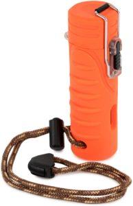 WINDMILL(ウインドミル) ライター クエスト ターボ 耐風仕様 オレンジ W03-0005 95(h)×31×34mm|ウインドミル(WINDMILL)|着火用ガスライター