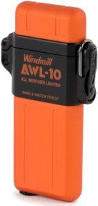 WINDMILL(ウインドミル) ライター AWL-10 ターボ 防水 耐風仕様 オレンジ 307-0044 307-0044|ウインドミル(WINDMILL)|着火用ガスライター