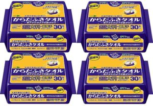 【お徳用 4 セット】 アクティ からだふきタオル超大判・超厚手 30枚入×4セット | アクティ | 清拭シート