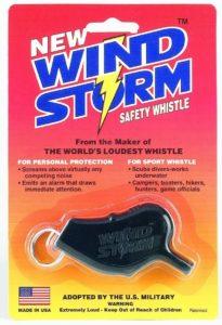 ウインドストーム・ホイッスル・ブラック All-Weather Safety Whistle Co.