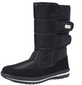 [オスランド] レディースブーツ メンズブーツ 男女兼用 ブーツ スノーブーツ 雪靴 無地 防寒防滑撥水加工 ブラック | Ausland(オスランド) | ブーツ・ブーティ