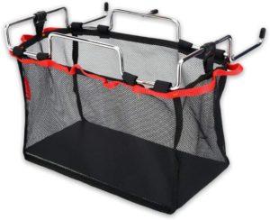 キャンプ ラック Delaman メッシュバッグ付きテーブルラック キャンプ アウトドアに適用 バスケット 手荷物収納 テーブルアクセサリー(Size : M): ホーム&キッチン