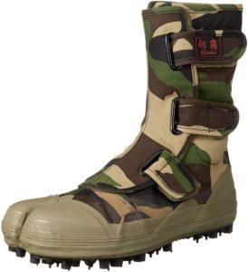 [ソウカイドウ] 股付スパイクシューズ 迷彩柄 I-881 メンズ | 安全靴・作業靴