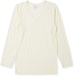 [ビー・ブイ・ディ] Vネック長袖シャツ 吸湿発熱 heat edit (薄手) GR678RR メンズ オフホワイト 日本 L (日本サイズL相当) | アウトドア メンズ 通販