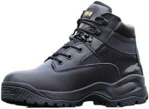 [リンゼ] 安全靴 作業靴 ワークシューズ 耐滑ソール メンズ セーフティーシューズ 耐滑 衝撃吸収 耐摩耗 ワーク シューズ 通気 耐久性 通動 ハイキングシューズ パフォーマンス 軽量 滑り止め 遠足 タクティカル 戦闘靴 | ブーツ