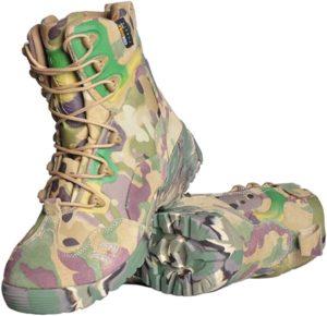 [リンゼ] 迷彩 安全靴 作業靴 メンズ レディース ハイカット ブーツ ミッドソール 軽量 通気性 防滑 耐摩耗 クッション性 おしゃれ 男女兼用 大きいサイズ アウトドア トレーニングシューズ 学生 通学 コンバットブーツ | リンゼ | ブーツ