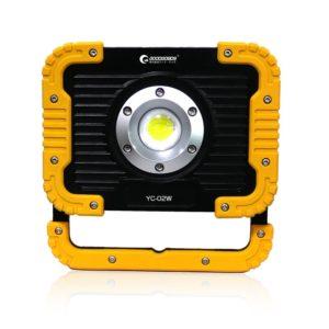 実用新案登録 グッドグッズ(GOODGOODS) COB LED 投光器 充電式 20W 2500lm ledライト 作業灯 屋外 防水 折り畳み式 マグネット付き USBポート付 夜間作業 アウトドア YC-02W: 産業・研究開発用品
