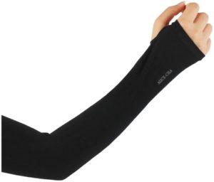 ALICE-CILA [Amazon限定ブランド] アームカバー UVカット 冷感 手袋 ロング 夏 紫外線対策 日焼け防止 涼感 速乾 UVケア 男女兼用 (ブラック(指通し)) | ALICE-CILA | UVカット手袋・アームカバー