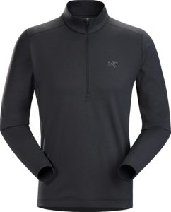 ARC'TERYX(アークテリクス) Motus AR Zip Neck LS Men's 25920 Black Heather M: 服&ファッション小物