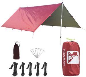 HIKEMAN タープ 日焼け止め 日覆い コンパクト 天幕 紫外線カット キャンプ アウトドア 超軽量 遮熱 防水 多機能 ポータブル 収納袋付き ペグ付き 3サイズ 1~2人用 3~5人用 5~10人用 | HIKEMAN | タープ