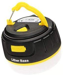 LitherBase LED ランタン キャンプ アウトドア USB 充電式 ライト 小型 モバイルバッテリー 防災 防水 防塵 IP65 5200mAh 5段階調光 オレンジ: スポーツ&アウトドア
